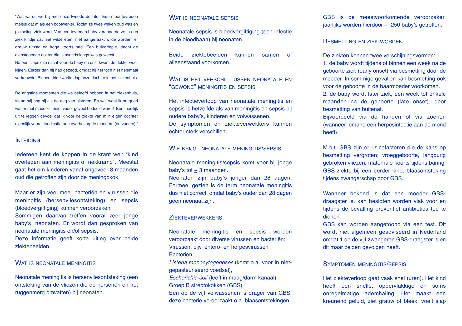 Neo In Het Kort 5 Nederlandse Meningitis Stichting
