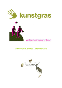 Oktober/ November/ December 2012 Beste leerlingen en ouders