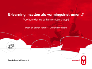 PowerPoint-presentatie - DSpace Open Universiteit
