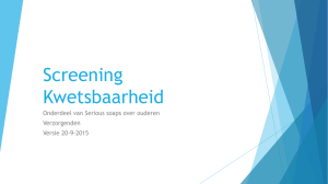 Screening Kwetsbaarheid
