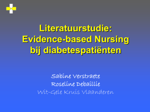 Literatuurstudie: Evidence-based Nursing over - EYES e
