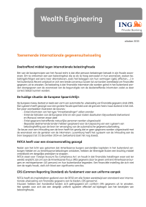 Toenemende internationale gegevensuitwisseling Wealth Engineering