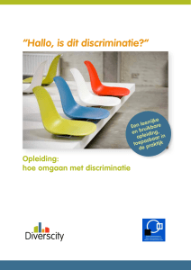 Hallo, is dit discriminatie?