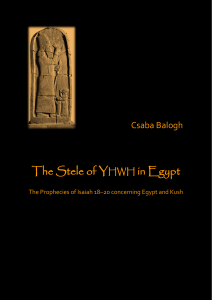 The Stele of YHWH in Egypt - Theologische Universiteiten