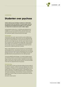 Studenten over psychose