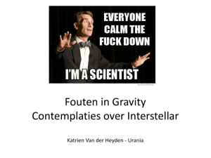 Fouten in Gravity Contemplaties over Interstellar