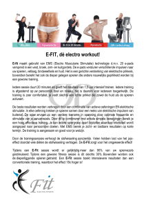 E-FIT, dé electro workout!