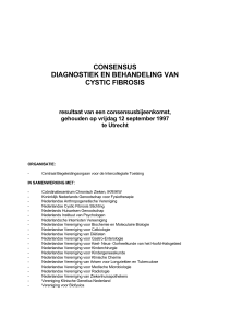consensus diagnostiek en behandeling van cystic