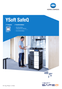 YSoft SafeQ - Konica Minolta
