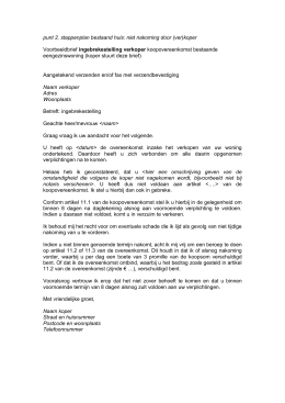 voorbeeldbrief in gebreke stellen huurder Toelichting koopovereenkomst bestaande woning voorbeeldbrief in gebreke stellen huurder