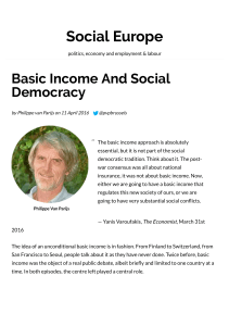 Basic Income And Social Democracy