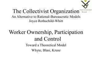 "Sikko Segaert: ""The Collectivist Organization An Alternative to"