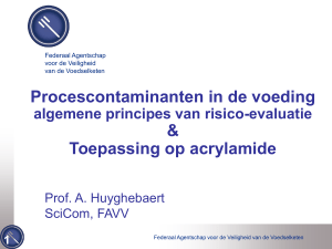 Procescontaminanten in de voeding