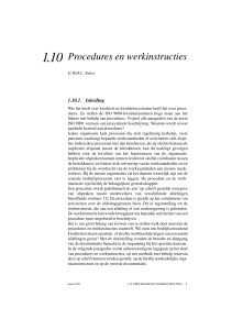 Procedures en werkinstructies