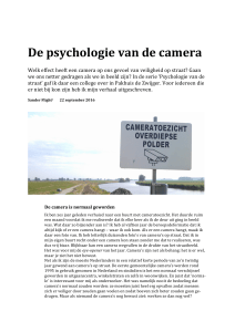 De psychologie van de camera