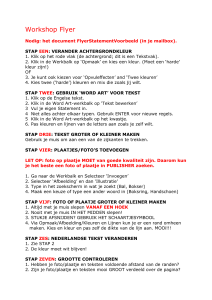 Workshop Flyer - Pleincollege Nuenen
