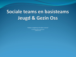 Sociale teams en basisteams