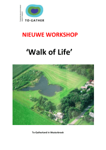 NIEUWE WORKSHOP `Walk of Life` - To