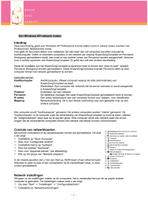 Netwerk Netwerk Windows XP - PDF