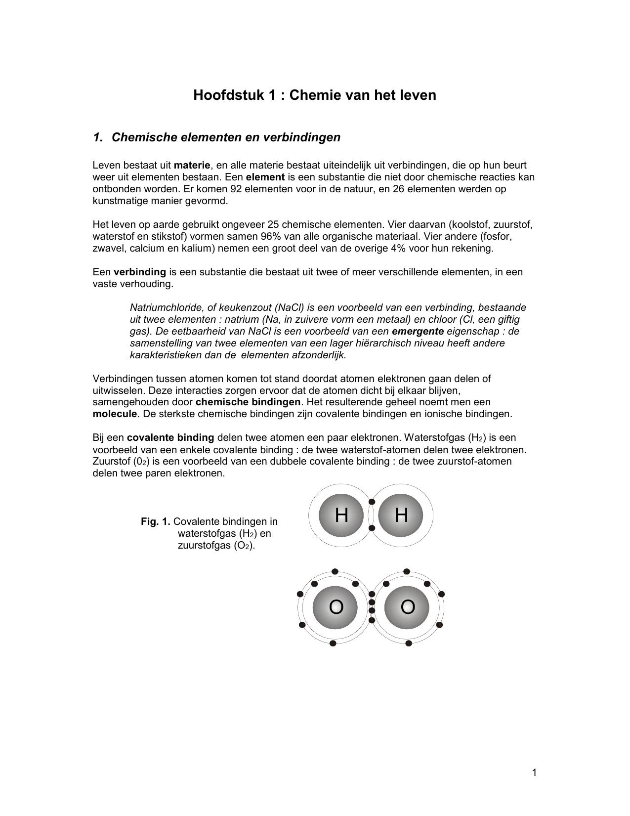 Les 1 Chemie Van Het Leven