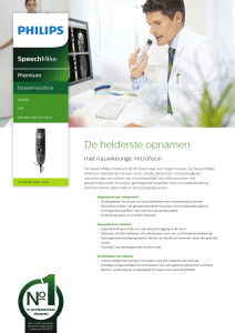 De helderste opnamen - Philips Speech processing