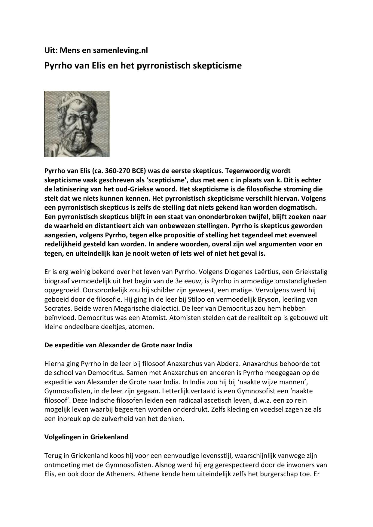 Filosofie Aan De Keukentafel.Filosofie En Levenskunst Sextus Empirius