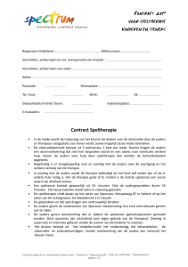 Contract Speltherapie