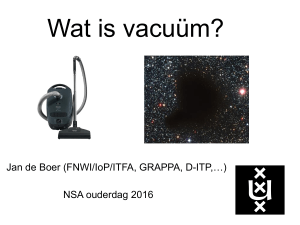 Wat is vacuüm?