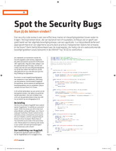 Spot the Security Bugs
