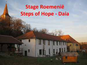 Presentatie stage Roemenië Daia – Steps of Hope