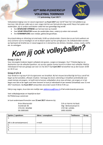 plus mini plekkerscup toernooi - Volleybalvereniging Livoc Liessel