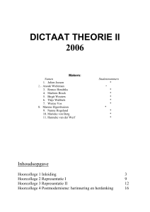 dictaat theorie ii