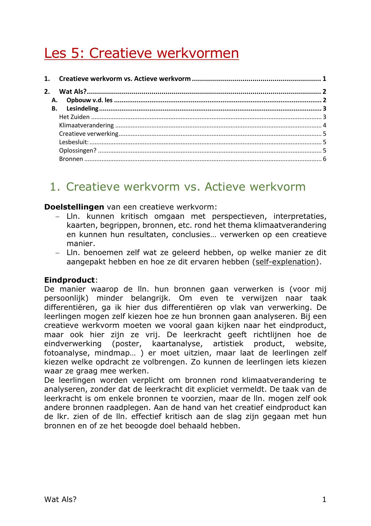 Spiksplinternieuw Les 5: Creatieve werkvormen CY-12