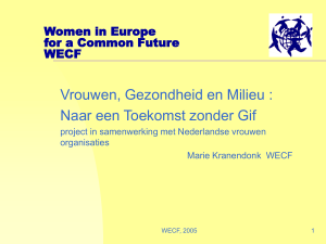 PowerPoint-presentatie - Women in Europe for a Common Future