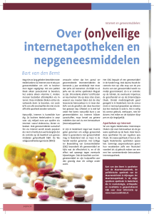 Over (on)veilige internetapotheken en nepgeneesmiddelen