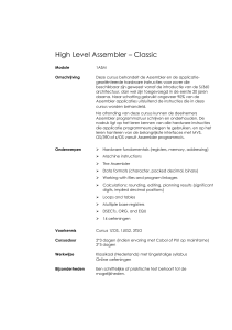 High Level Assembler – Classic