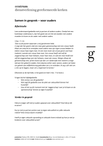 Hand-out ouders - In gesprek over sex