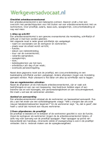 Checklist arbeidsovereenkomst Een arbeidsovereenkomst is een