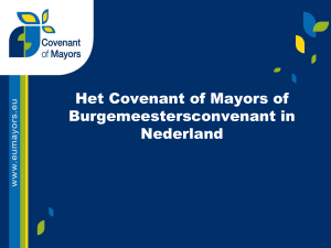 Presentatie Covenant of Mayors