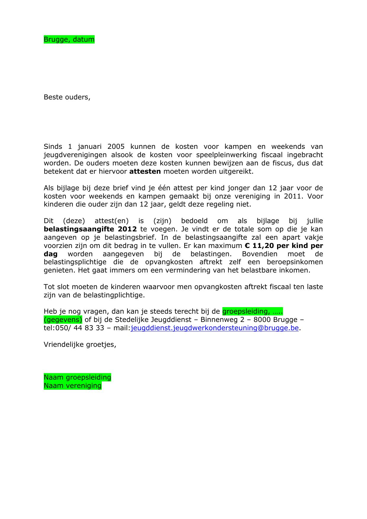 voorbeeld begeleidende brief VOORBEELD VAN EEN BEGELEIDENDE BRIEF VOOR DE OUDERS