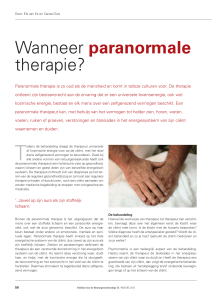 Wanneer paranormale therapie?