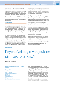 Psychofysiologie van jeuk en pijn: two of a kind?
