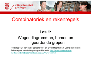 Combinatoriek en rekenregels