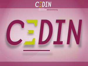 Cedin PowerPoint sjabloon - Lokale Educatieve Agenda