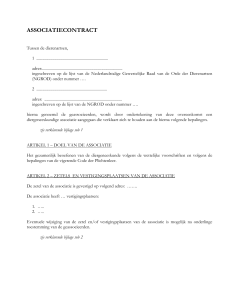 Voorbeeld associatiecontract