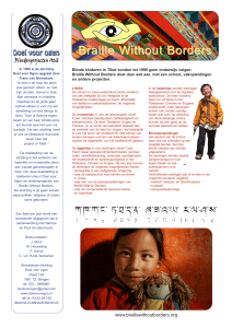 Braille Without Borders - stichting `Doel voor Ogen`