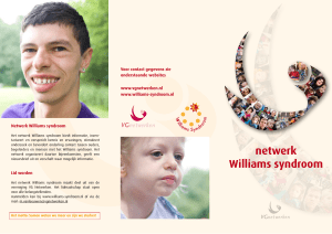 netwerk Williams syndroom - Nederlandse Vereniging Williams