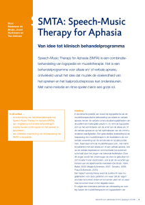 SMTA: Speech-Music Therapy for Aphasia