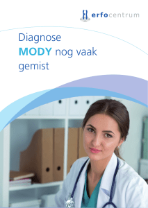 Diagnose MODY nog vaak gemist