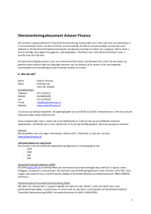 Dienstenwijzer - Aslaner Finance